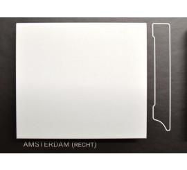 Stijlplint Amsterdam Wit gelakt 12 cm.