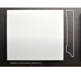 Stijlplint Amsterdam Wit gelakt 7 cm.