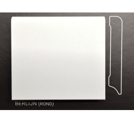 Stijlplint Berlijn Wit gelakt 7 cm.