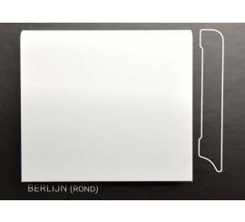 Stijlplint Berlijn Wit gelakt 9 cm.