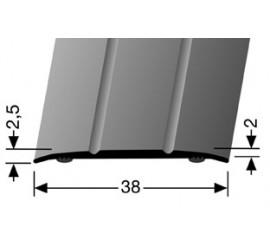 Dilatatieprofiel Zilver 38 mm.  zelfklevend