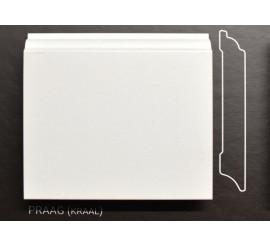Stijlplint Praag Wit gelakt 12 cm.