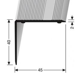 Trapprofiel Zilver 40 x 45 mm. zelfklevend